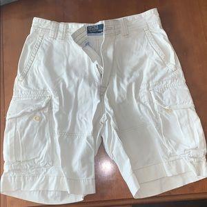 Men's Ralph Lauren white cargo shorts